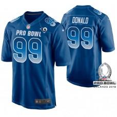 Los Angeles Rams #99 Aaron Donald Royal Game Jersey 2019 Pro Bowl NFC
