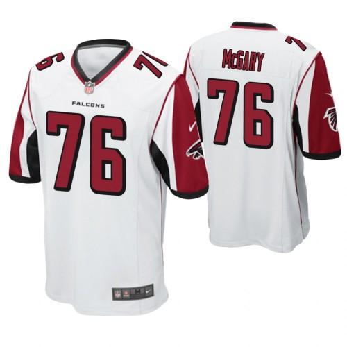 Atlanta Falcons #76 Kaleb McGary Draft Game Jersey - Red