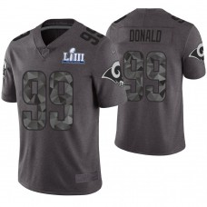 Los Angeles Rams #99 Aaron Donald Gray Super Bowl LIII Limited Jersey