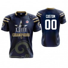 Los Angeles Rams #00 Custom Navy Super Bowl LIII Champions Commemorative Jersey