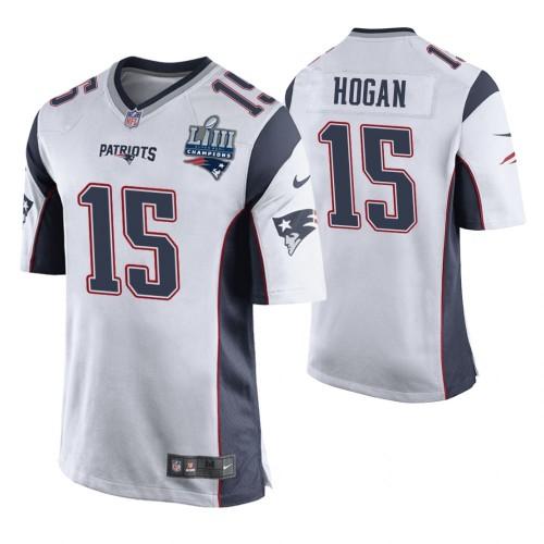 New England Patriots #15 Chris Hogan White Super Bowl LIII ...