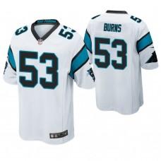 Carolina Panthers #53 Brian Burns 2019 NFL Draft White Game Jersey