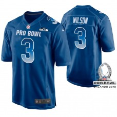 Seattle Seahawks #3 Russell Wilson Royal Game Jersey 2019 Pro Bowl NFC
