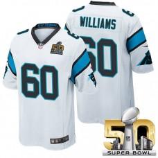 Carolina Panthers #60 Daryl Williams White 2016 Super Bowl 50 Elite Jersey