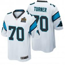 Carolina Panthers #70 Trai Turner White 2016 Super Bowl 50 Elite Jersey