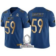 Carolina Panthers #59 Luke Kuechly NFC 2017 Pro Bowl Blue Gold Limited Jersey