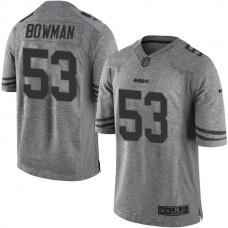 San Francisco 49ers #53 NaVorro Bowman Gridiron Gray Limited Jersey