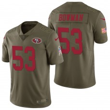 San Francisco 49ers #53 Navorro Bowman Olive 2017 Salute to Service Limited Jersey