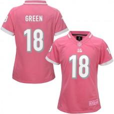 Women's Cincinnati Bengals #18 AJ Green Pink Bubble Gum Jersey