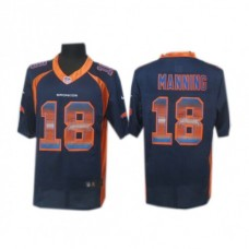 Denver Broncos #18 Peyton Manning Navy Blue Fashion Strobe Jersey