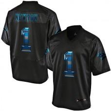 Carolina Panthers #1 Cam Newton Pro Line Black Strobe Jersey