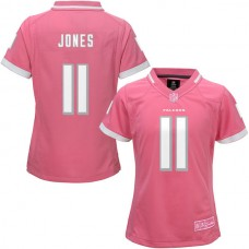 Women's Atlanta Falcons #11 Julio Jones Pink Bubble Gum Jersey