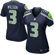 Youth Seattle Seahawks #3 Russell Wilson College Navy Replica Game Jersey