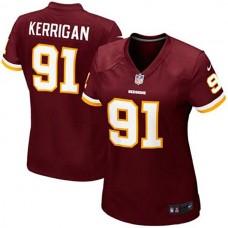 Youth Washington Redskins #91 Ryan Kerrigan Burgundy Replica Game Jersey