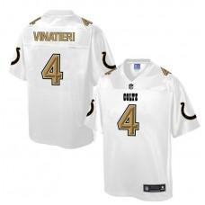 Indianapolis Colts #4 Adam Vinatieri White Pro Line Fashion Jersey