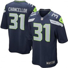 Seattle Seahawks #31 Kam Chancellor College Navy Game Jersey