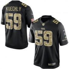 Carolina Panthers #59 Luke Kuechly Black Salute To Service Jersey