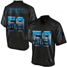 Carolina Panthers #59 Luke Kuechly Pro Line Black Strobe Jersey