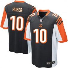 Cincinnati Bengals #10 Kevin Huber Game Black Jersey