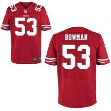 San Francisco 49ers #53 NaVorro Bowman Scarlet Elite Jersey