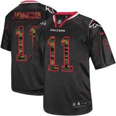 Atlanta Falcons #11 Julio Jones Limited Black Camo Fashion Jersey