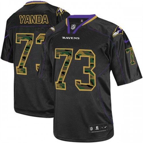 Ravens #23 Marshal Yanda Game Black Camo Jersey