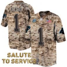 Carolina Panthers #1 Cam Newton Salute to Service Digital Camo Jersey