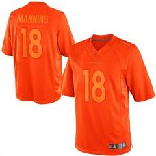 Denver Broncos #18 Peyton Manning Orange Drenched Limited Jersey