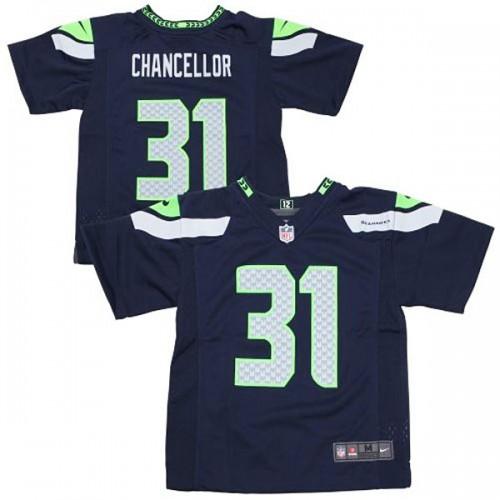 Preschool Seattle Seahawks #31 Kam Chancellor College Navy Game Jersey