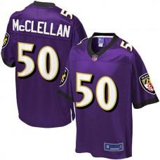 Pro Line Baltimore Ravens #50 Albert McClellan Team Color Jersey