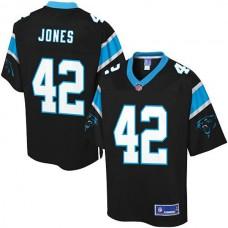 Pro Line Carolina Panthers #42 Colin Jones Team Color Jersey