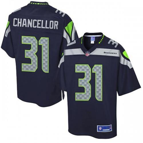 Pro Line Seattle Seahawks #31 Kam Chancellor Team Color Jersey