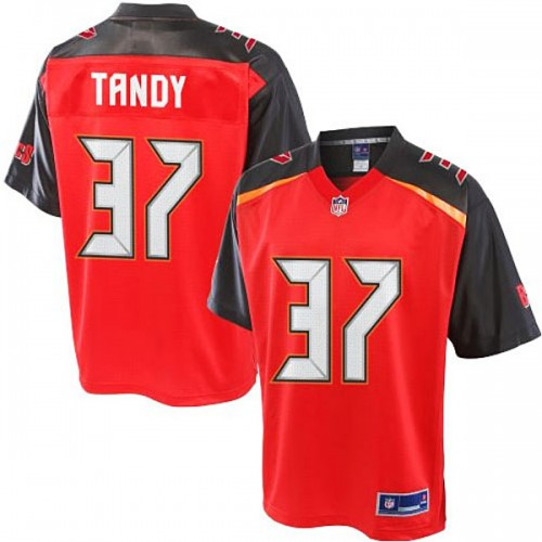 Pro Line Keith Tandy Red Tampa Bay Buccaneers #37 Jersey