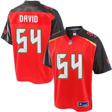 Pro Line Lavonte David Red Tampa Bay Buccaneers #54 Jersey