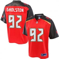 Pro Line William Gholston Red Tampa Bay Buccaneers #92 Jersey