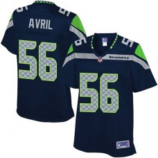 Women's Pro Line Seattle Seahawks #56 Cliff Avril Team Color Jersey
