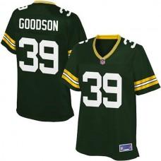 Women Pro Line Green Bay Packers #39 Demetri Goodson Team Color Jersey