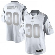 St. Louis Rams #30 Todd Gurley Platinum Limited White Jersey