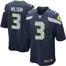 Seattle Seahawks #3 Russell Wilson College Navy Game Jersey