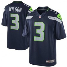Seattle Seahawks #3 Russell Wilson College Navy Team Color Limited Jersey