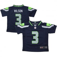 Russell Wilson Seattle Seahawks #3 Toddler Game Jersey-College Navy