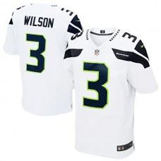 Seattle Seahawks #3 Russell Wilson White Elite Jersey