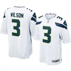 Seattle Seahawks #3 Russell Wilson White Game Jersey