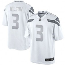 Seattle Seahawks #3 Russell Wilson White Platinum Limited Jersey