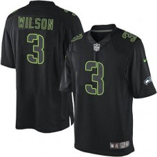 Seattle Seahawks #3 Russell Wilson Impact Limited Black Jersey