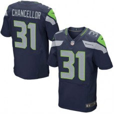 Seattle Seahawks #31 Kam Chancellor College Navy Elite Jersey