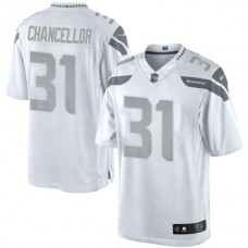 Seattle Seahawks #31 Kam Chancellor White Platinum Limited Jersey