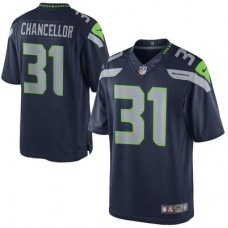 Seattle Seahawks #31 Kam Chancellor College Navy Limited Jersey