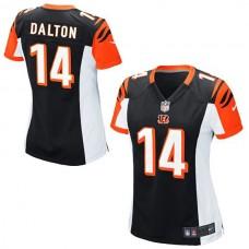 Women's Cincinnati Bengals #14 Andy Dalton Black Limited Jersey