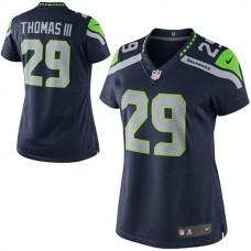 Women's Seattle Seahawks #29 Earl Thomas Navy Blue Limited Jersey
